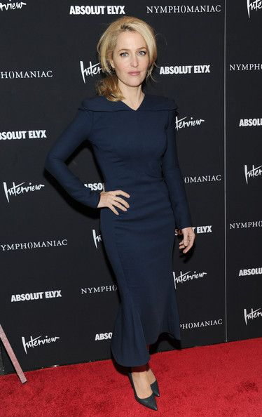 "Gillian Anderson Photos Photos - Actress Gillian Anderson attends the ""Nymphomaniac: Volume I"" New York screening at Museum of Modern Art on March 13, 2014 in New York City. - 'Nymphomaniac: Volume I' Screening in NYC"