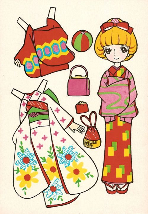 That's All You Do... - Small Japanese Cut Out Dressing Dolls
