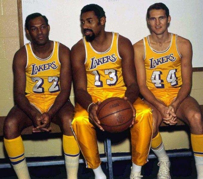 Elginbaylor Wiltchamberlain Jerrywest Baylor Chamberlain Wilt Wiltthestilt West Losangeleslakers Lo Nba Legends Los Angeles Lakers Lakers Basketball