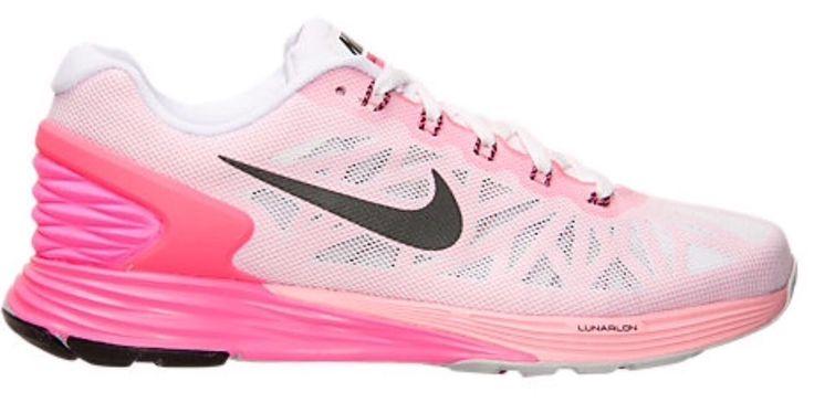 "New! Women Nike ""Lunarglide 6"" Pink White Air Max 654434-106 Flyknit Roshe  11  | eBay"