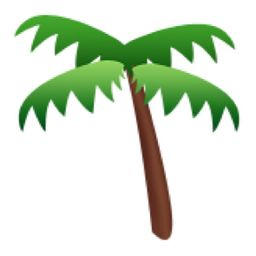 Palm Tree Emoji (U+1F334/U+E307)