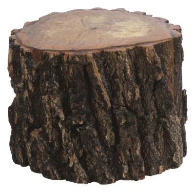 how to make a log stool