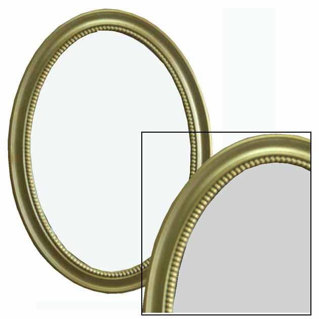 Καθρέφτης Οβάλ Χρυσός 50Χ70εκ