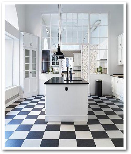 Black And White Kitchen Floor: 25+ Best Ideas About Linoleum Kitchen Floors On Pinterest