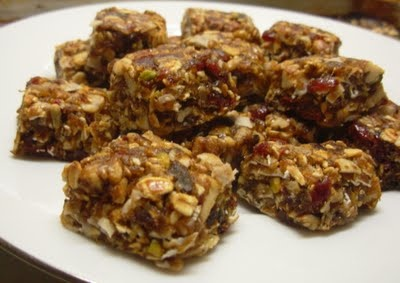 Nutty Fruit Squares with dates; raisins; dried cranberry; etc