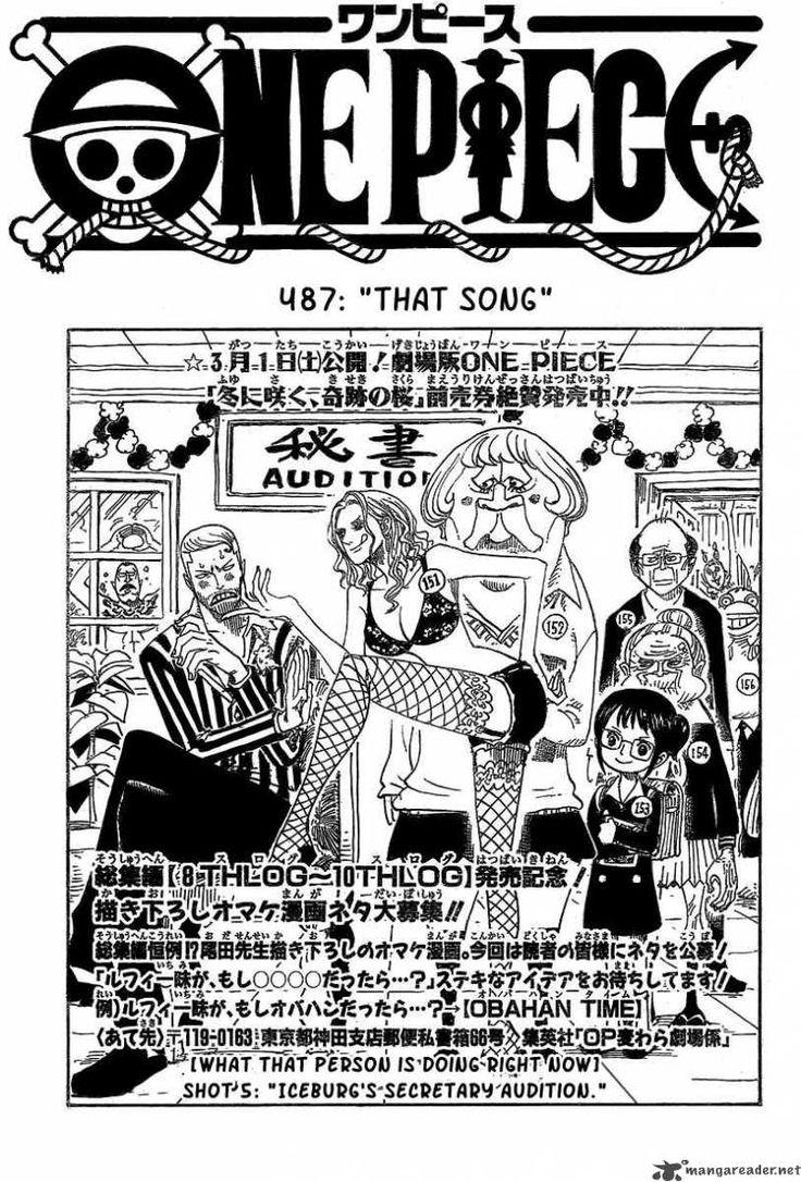 Read One Piece Manga Chapter 487 Online And Free In English sub                               That Song  #Manga #Comics #MangaOnePiece #OnlineManga #Anime #ReadManga