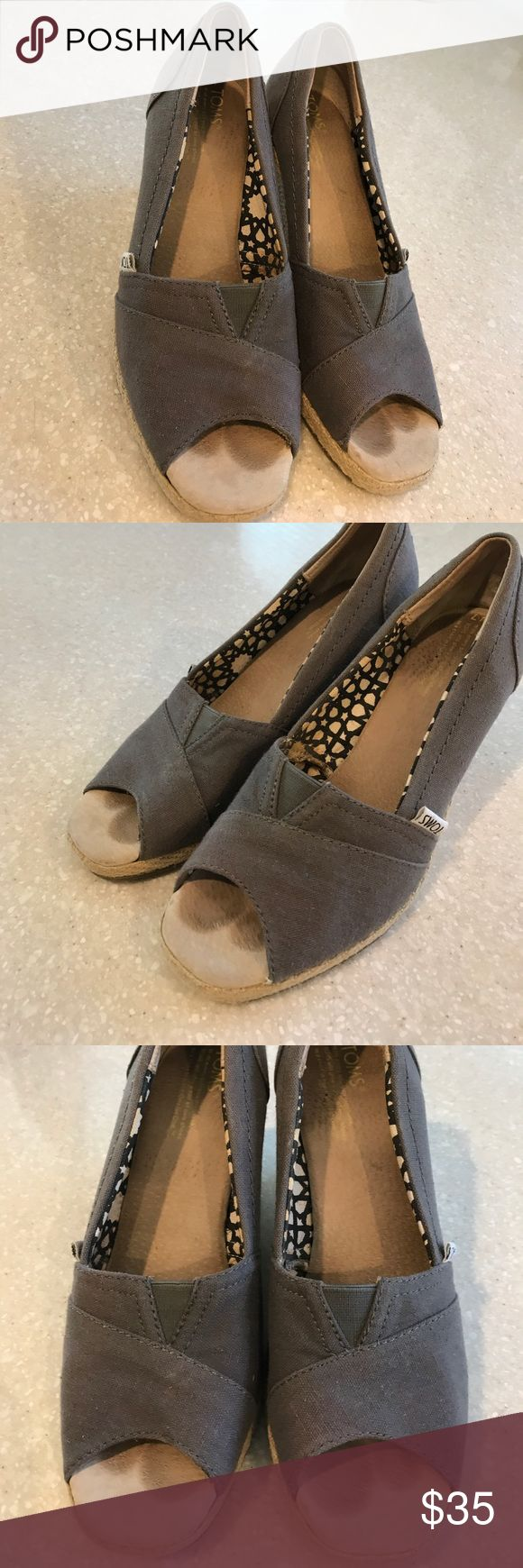 Tom's wedges size 7 Look excellent just has footprints only in the footbed noticed. TOMS Shoes Wedges