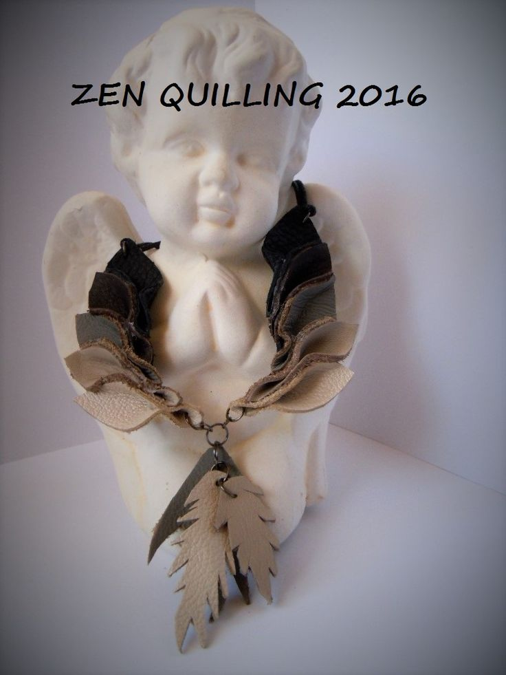 My first jewelry leather  -  Facebook.com/Zen Quilling
