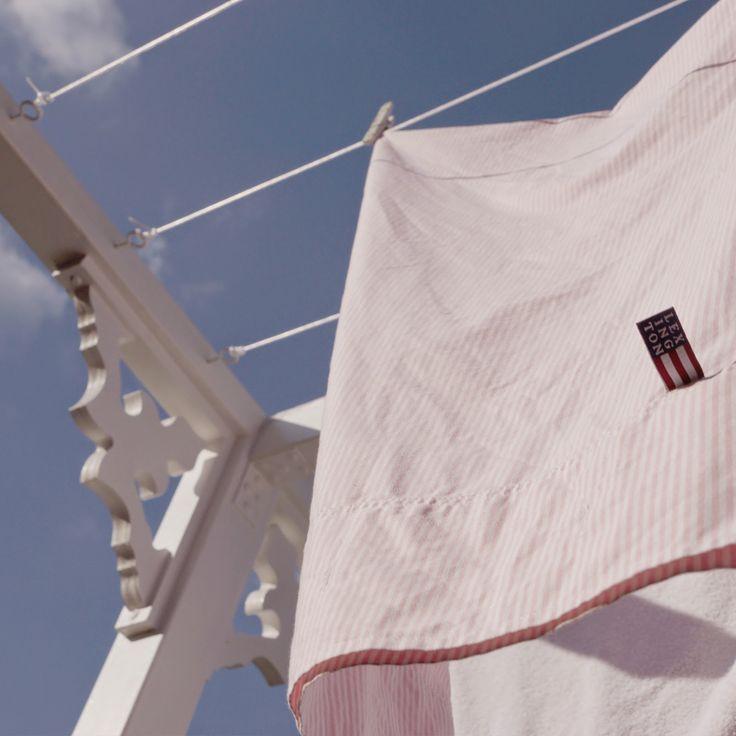 Torkställning, lexington company, snickarglädje, ljusrosa, blue sky, clean laundry, sweet, fresh air, molban, annashjartan