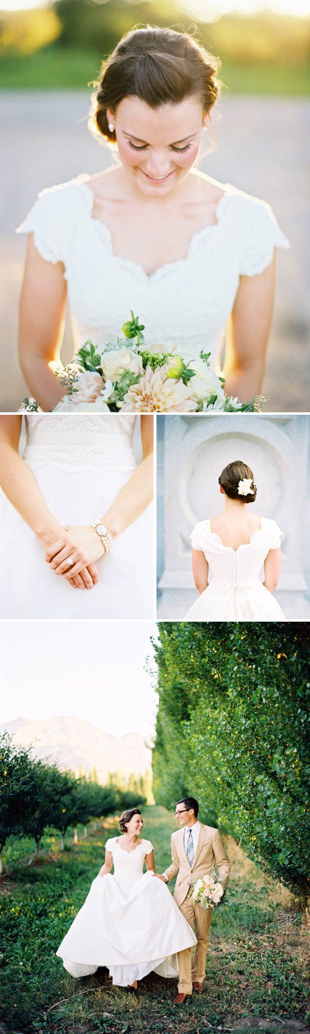 wedding-dress-with-scalloped-neck...not that I need another wedding dress, but I love the scallop