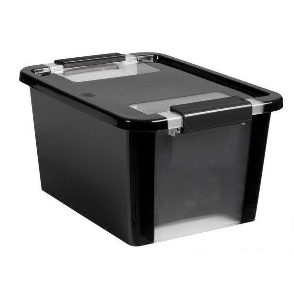 Förvaringsbox med snäpplock Bi-box S (11 l) Svart Plast - Småförvaring - Rusta