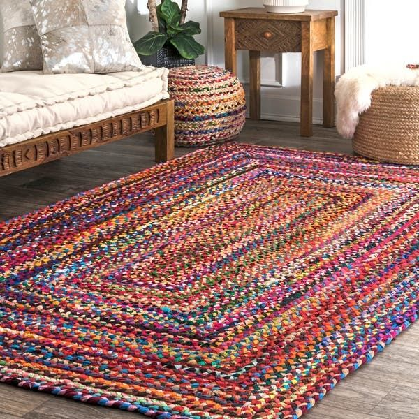Overstock Com Online Shopping Bedding Furniture Electronics Jewelry Clothing More In 2020 Colorful Area Rug Braided Rag Rugs Mandala Rug