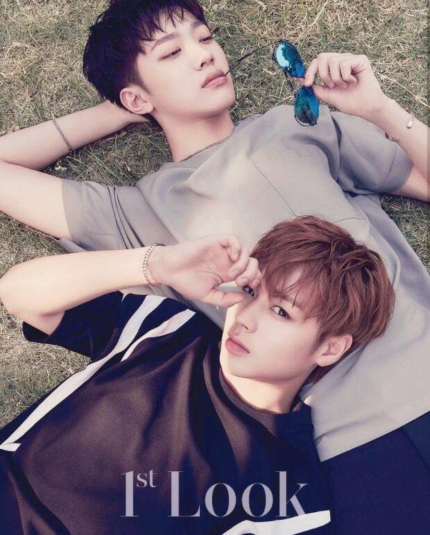 Resultado de imagem para wanna one guanlin and jihoon