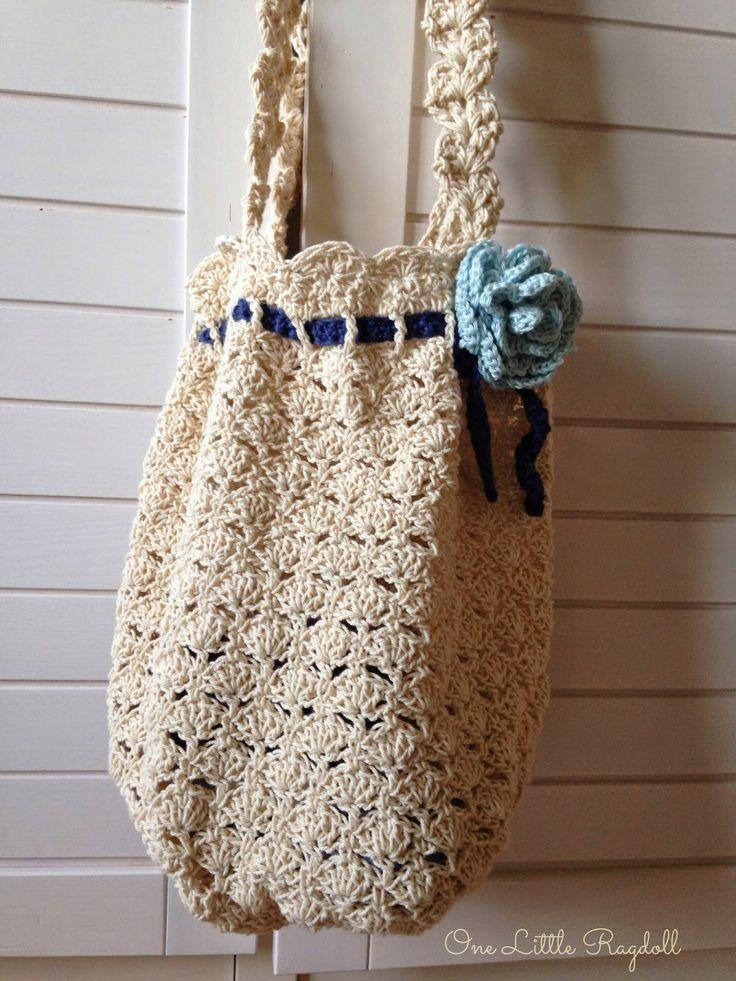 Virkattu kesätorikassi / Crochet summer tote by One Little Ragdoll