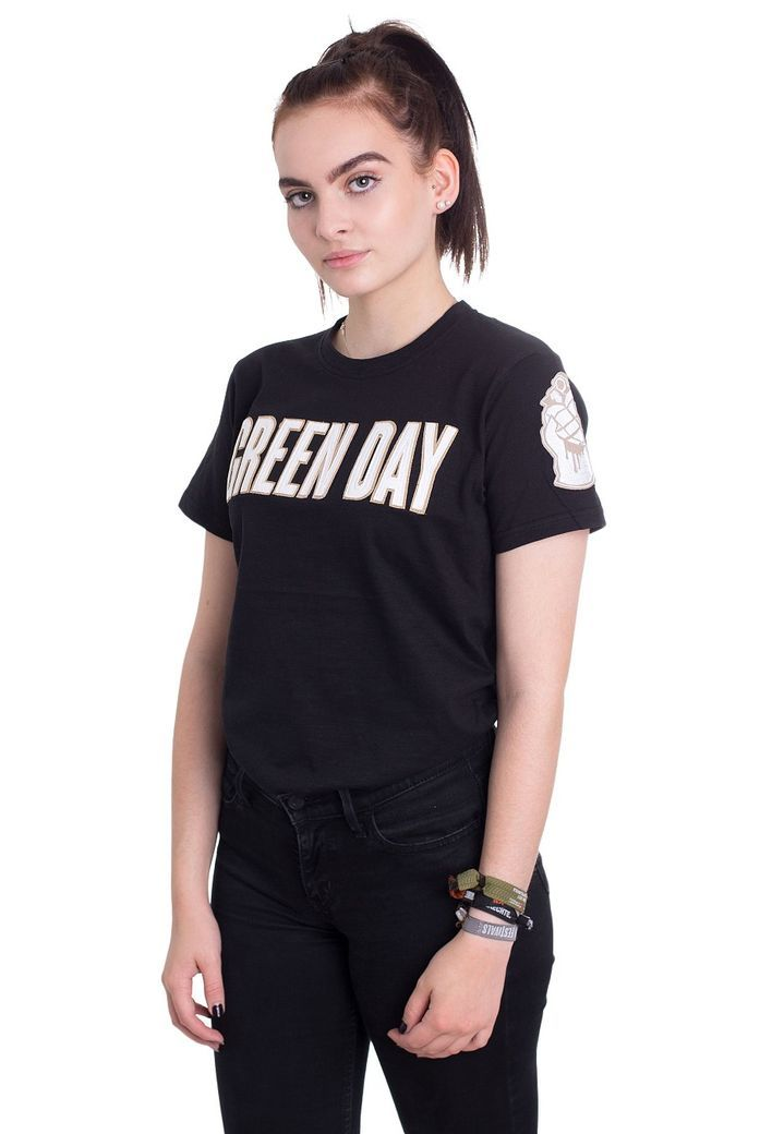 Order Green Day - Logo & Grenade Applique - T-Shirt by Green Day for £14.99 (9/27/2017) at the Impericon UK online shop in great quality.