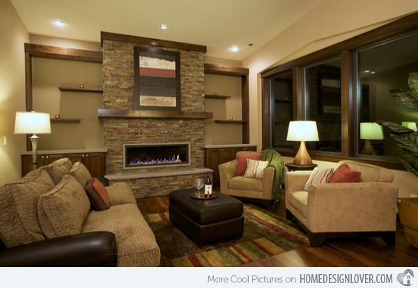 candice olson family room designs | 20 Stunning Earth Toned Living Room Designs | Home Design Lover