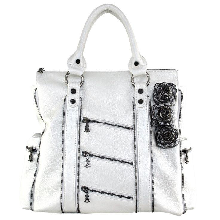 Christian Audigier Zee Zee Top Zeeta Tote - Silver - Fashion