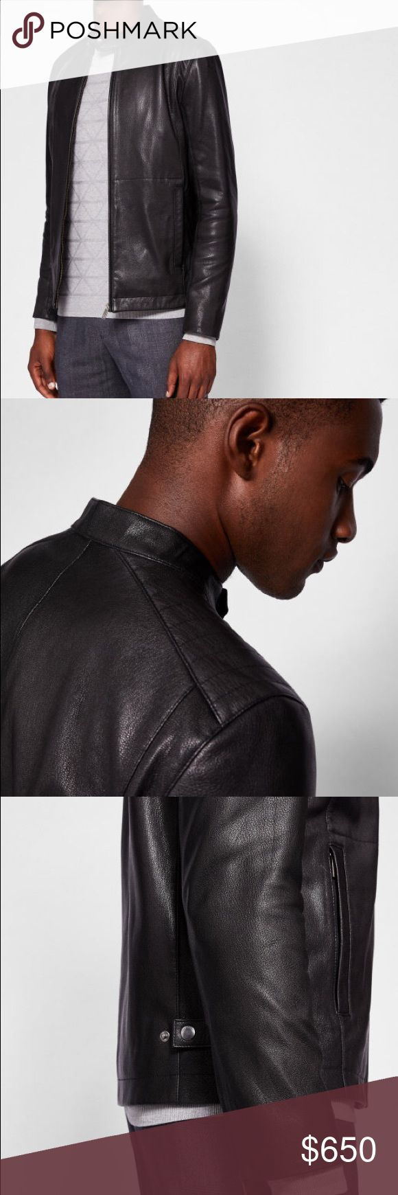 Ted Baker Leather Jacket Ted Baker Leather Jacket    Size 3   Never worn Ted Baker Jackets & Coats