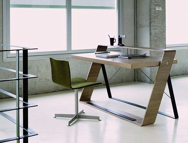 attractive modern home office computer desks ideas walnut modern office desk for small space - Office Desk Ideas