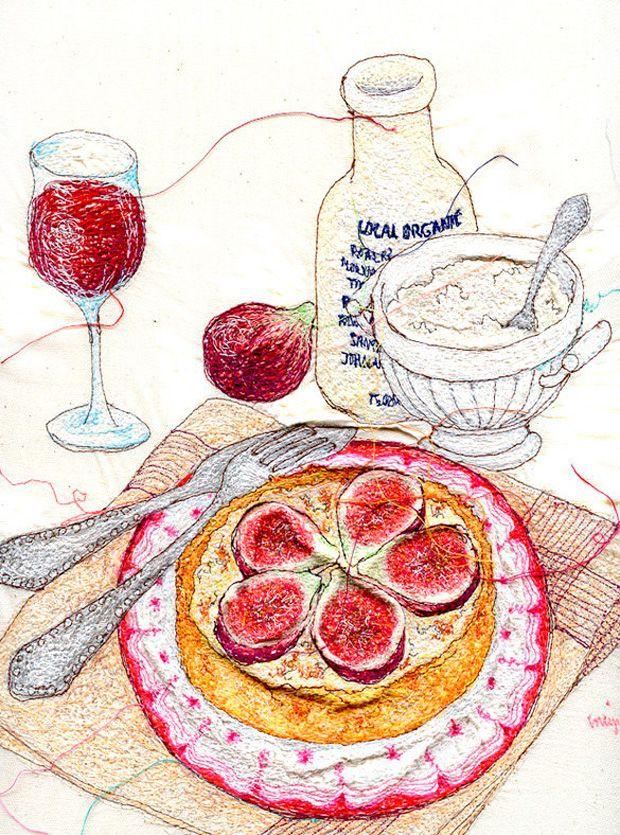 Embroidered art by © Miyuki Sakai