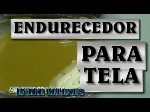 Como ALMIDONAR o ENDURECER El Tejido | Tejiendo Con Erica - YouTube
