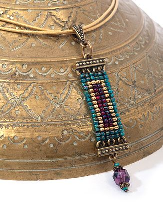 Magic Carpet Pendant - free pdf download for making the pendant (not including the beadwork )  #Seed #Bead #Tutorials