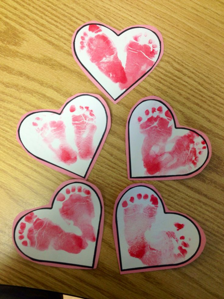 Valentines day craft for kids! These ones were done by ages 10 months and younger! Quick, easy and adorable!!!