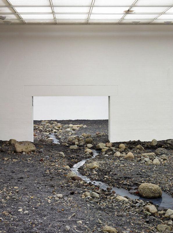 Olafur Eliasson installs gigantic riverbed in Danish museum Lousiana (Copenhagen)
