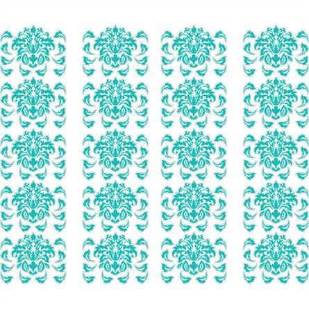Damask Pattern in Teal Wall Sticker #rosenberryrooms