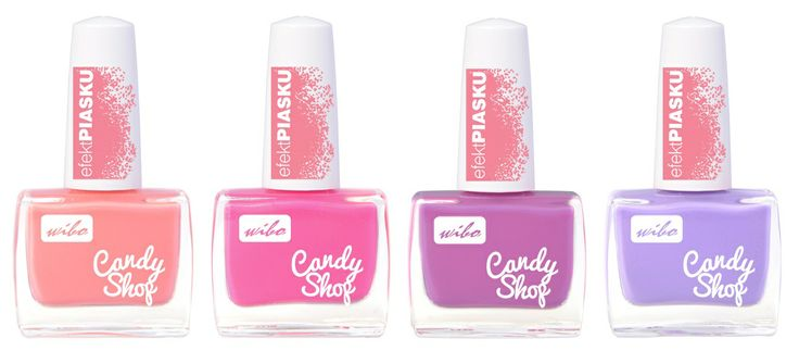Lakier Candy Shop - cukierkowe pastele z efektem piasku