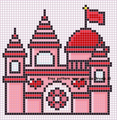 Free cross stitch patterns designs MUCHOS CASTILLOS