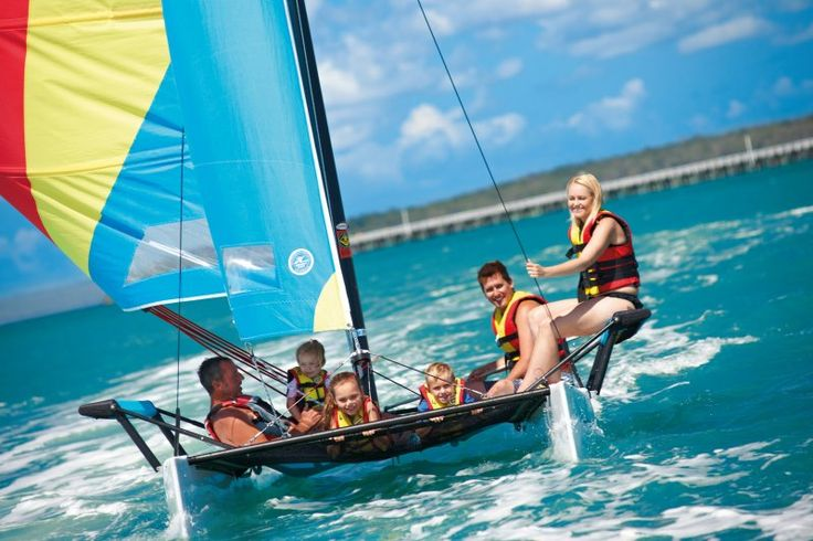 Enjoy some watersports nin Hervey Bay.   Photo: Tourism and Events Queensland  #thisisqueensland #seeaustralia #travel #adventure #beautifulplaces #natureaddict #traveltherenext