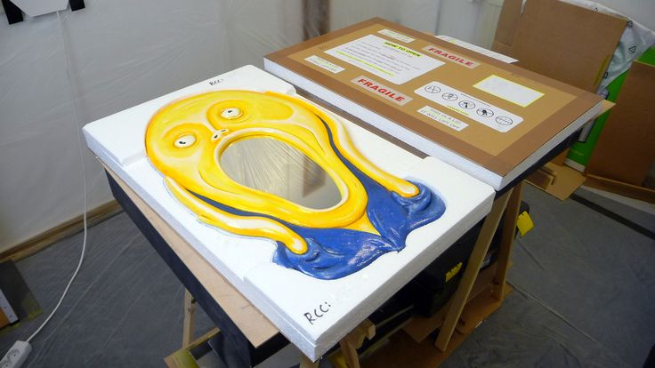 This is how we box our Scream Mirror. MarvellousMirrors.com