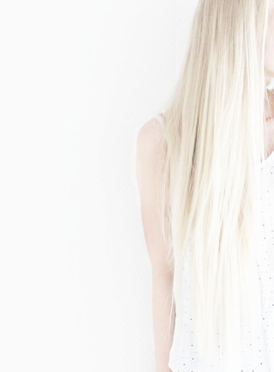 Beautiful white hair.