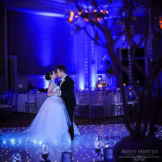 Loved Samantha And Nicholasu0027s Enchanting Theme. The Twilight Blue  Uplighting And The Twinkling Dance Floor Were Perfect Touches To This Fairytale  Wedding!