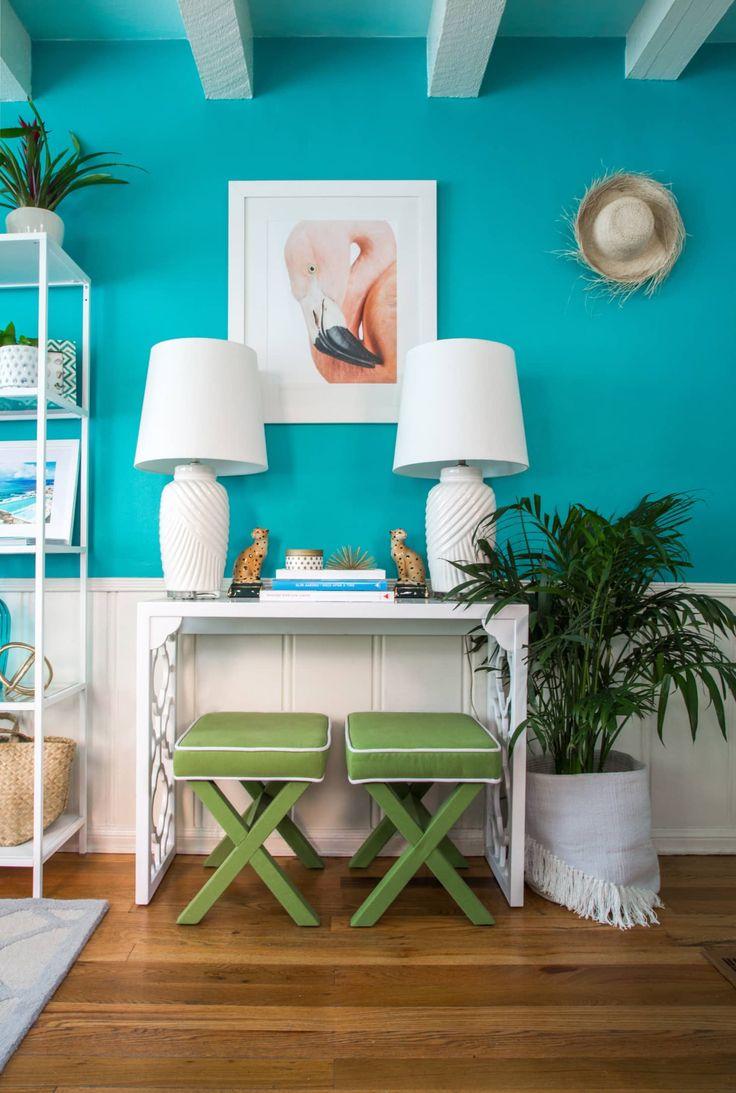 Kristen's Palm BeachInspired Home In Burbank Turquoise