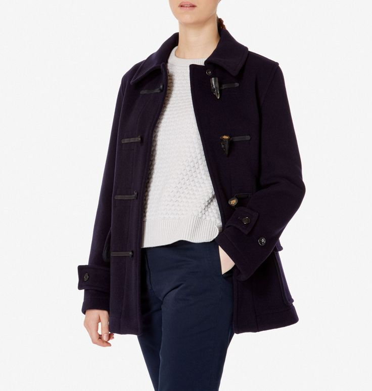 Women's Sunspel x Gloverall Duffle Coat in Navy | Sunspel