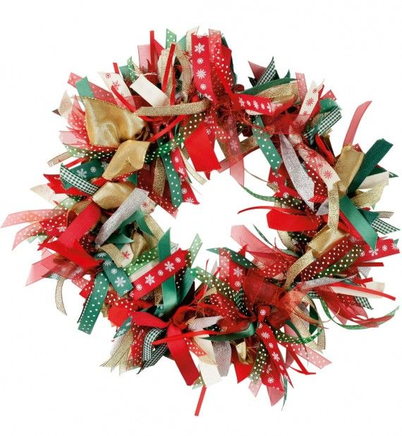 31 best images about wreaths on pinterest red chevron for How to make christmas door wreaths