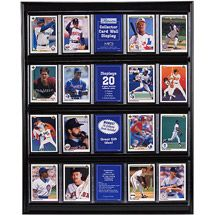 For wall decor: hang some vintage baseball cards?Walmart: Trading Card Display Case--$16.97