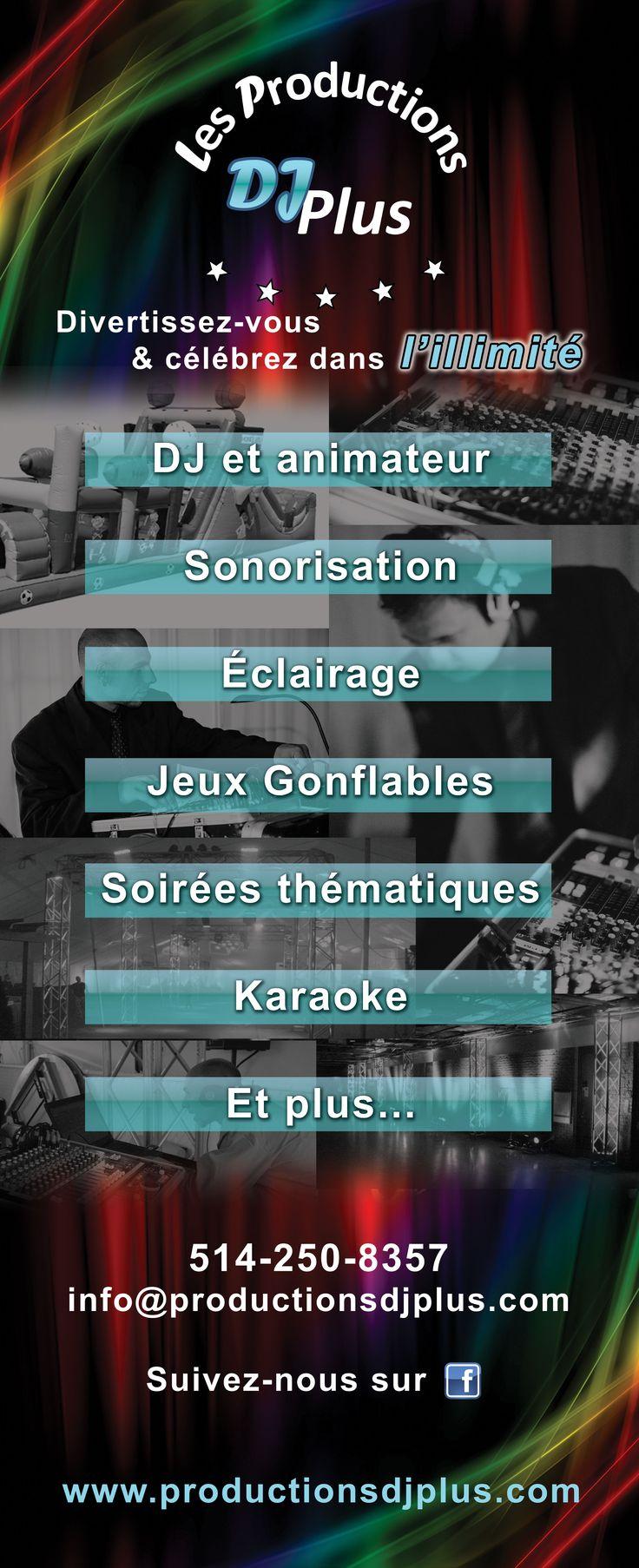 Voici les différents services offerts par les Productions DJPlus