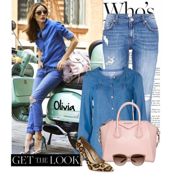 Get the Look: Olivia Palermo in Double Denim. Visit my blog www.forarealwoman.com   #blogger #fashion #denim #oliviapalermo #op #celebrities