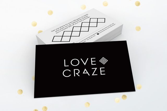 Fashion store Craze loyalty card graphic design by Robertson Creative, Christchurch