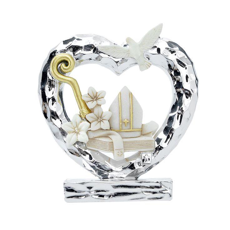 Cresima cuore silver grande cm. 8