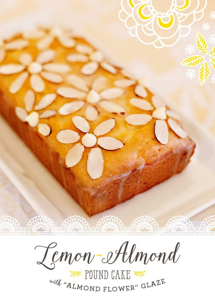 "Lemon-Almond Pound Cake with ""Almond Flower"" Glaze // Hostess with the Mostess®"