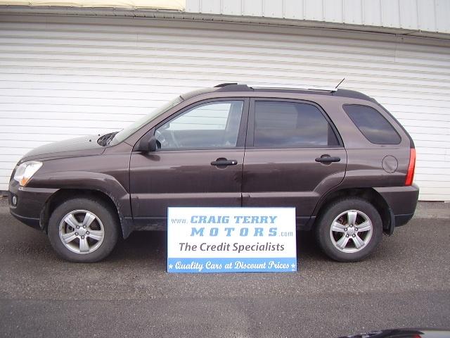Location:  Craig Terry Motors   Year:  2009   Make:  Kia   Model:  SPORTAGE   VIN:    Trim:  LX   Colour:  BROWN   Transmission:  Automatic   Mileage:   52000   Price: $ 15995.00   Stock #:  SPTG   Features:      Description:   PLUS HST