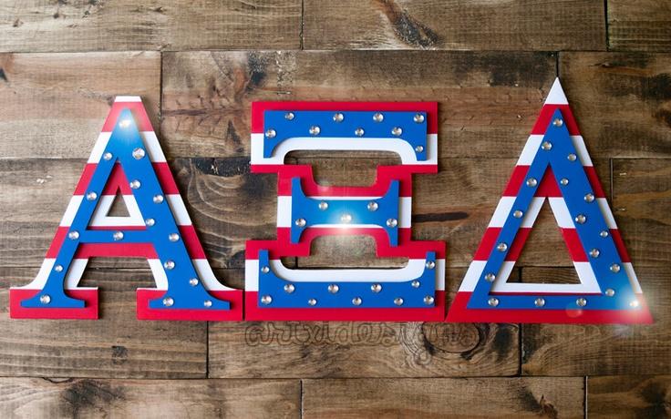 American Greek Alpha Xi Delta IttXi Letters. :) @Maggie Moore Moore King