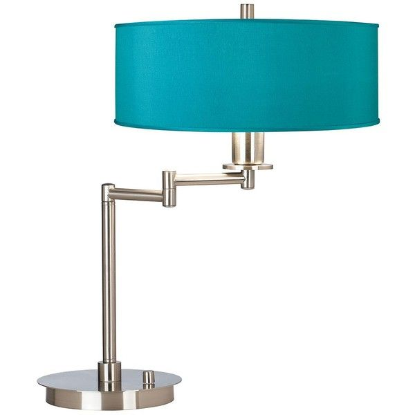 this brushed steel cfl swing arm desk lamp with a simple beige faux silk shade will fit right in with your bright and modern dcor shade is wide x 5 high