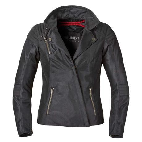 The fashionable and edgy Triumph Lara Mesh Motorcycle Jacket for women #womenwhoride #motochic | NEW from Triumph Motorcycles