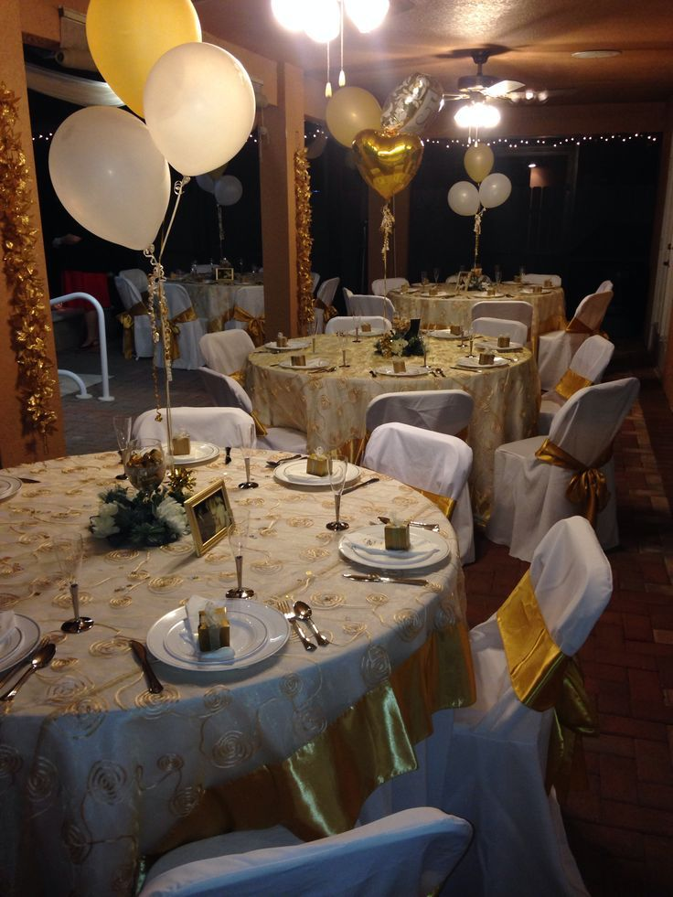 17 best images about 50th golden anniversary on pinterest for 50th wedding anniversary decoration