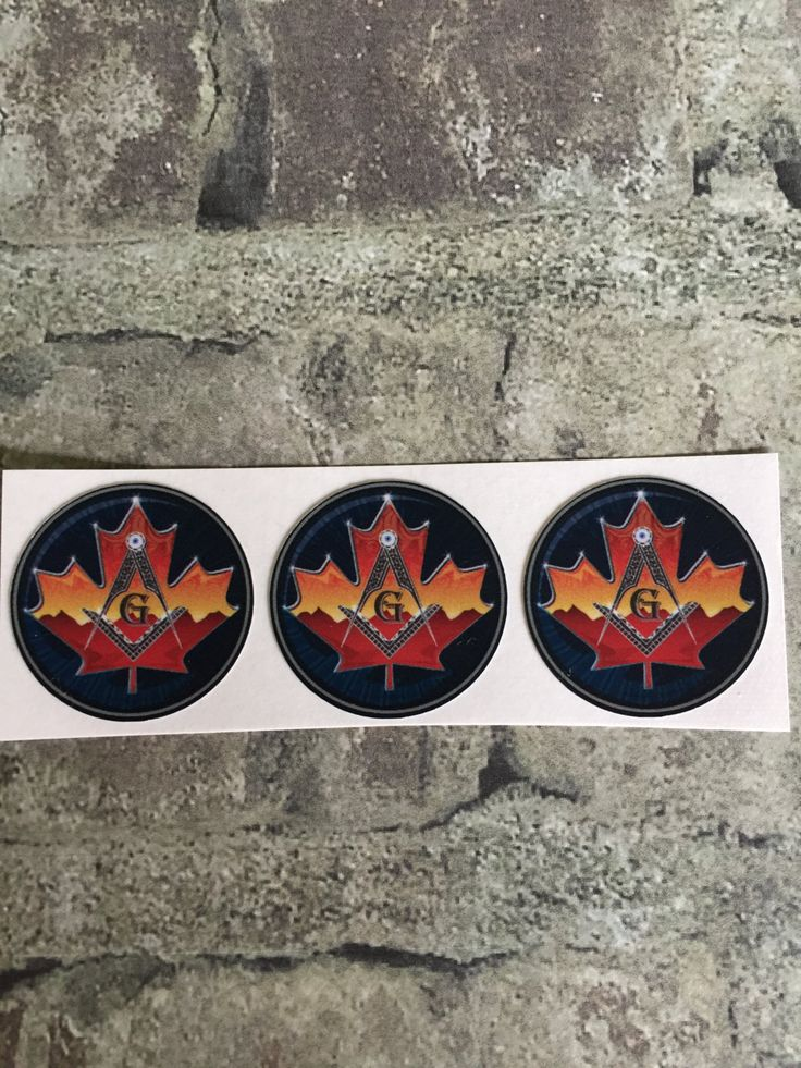 Set of three small Canadian Masonic decals each measures approximately 1.25 inches by ifitsticks on Etsy